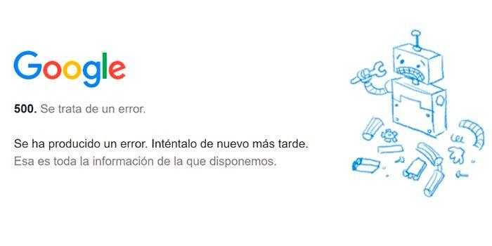 Google problemas en todo el mundo