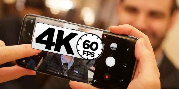 Grabar 4K 60 FPS Galaxy Note 8