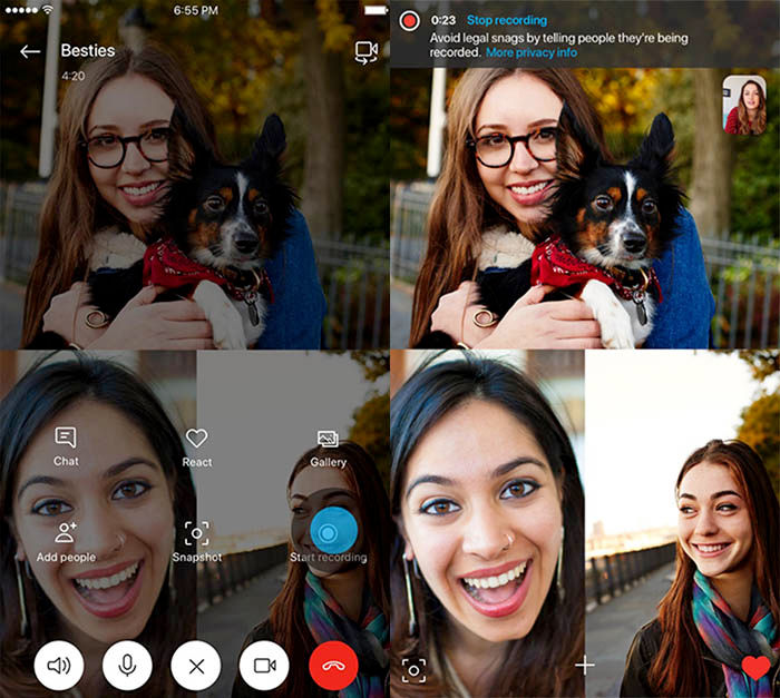 Grabar llamadas Skype Android iOS
