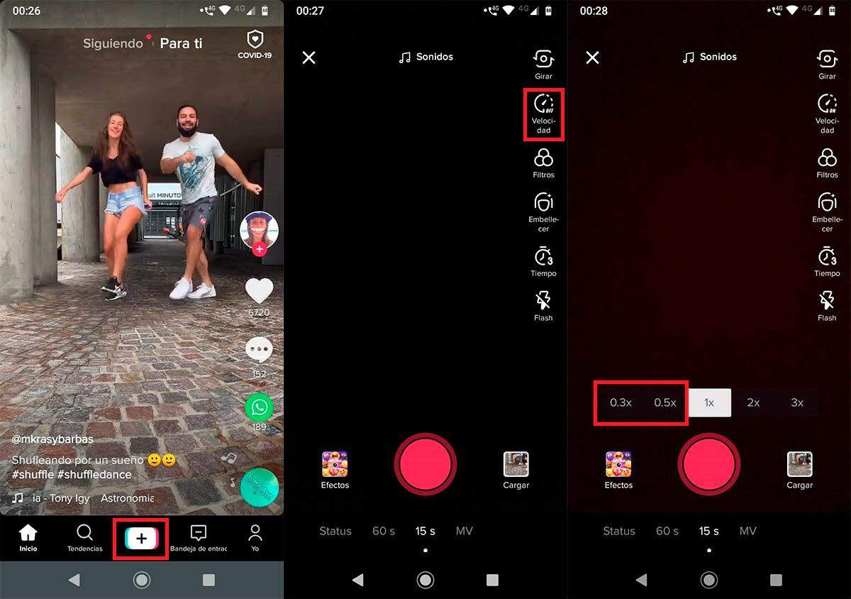 Grabar videos en camara lenta TikTok