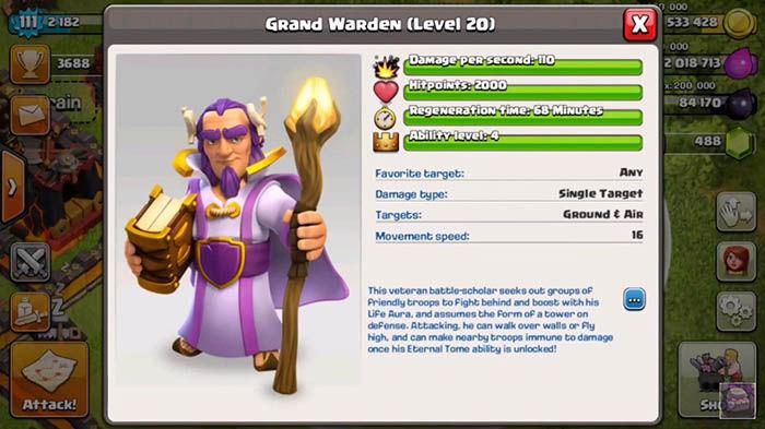 Grand Warden Clash of Clans