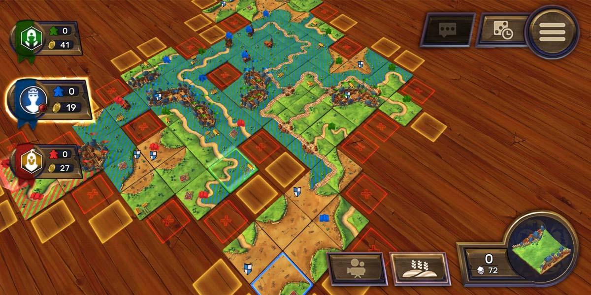 Espacios de granjas en Carcassonne para Android