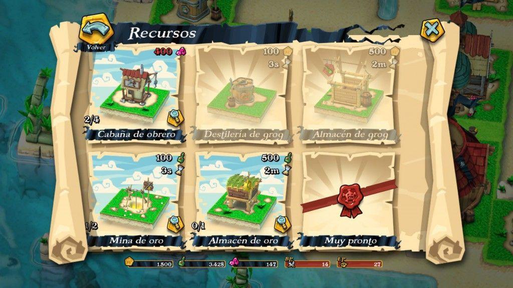 Grog y oro en Plunder Pirates