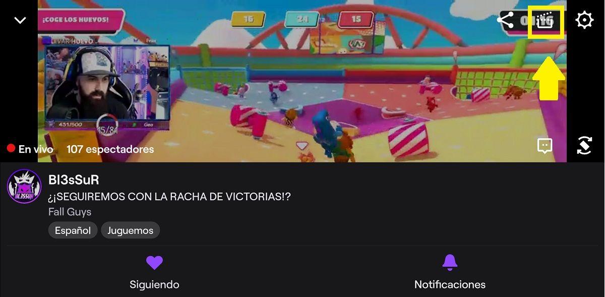 Guarda y crea un clip en Twitch