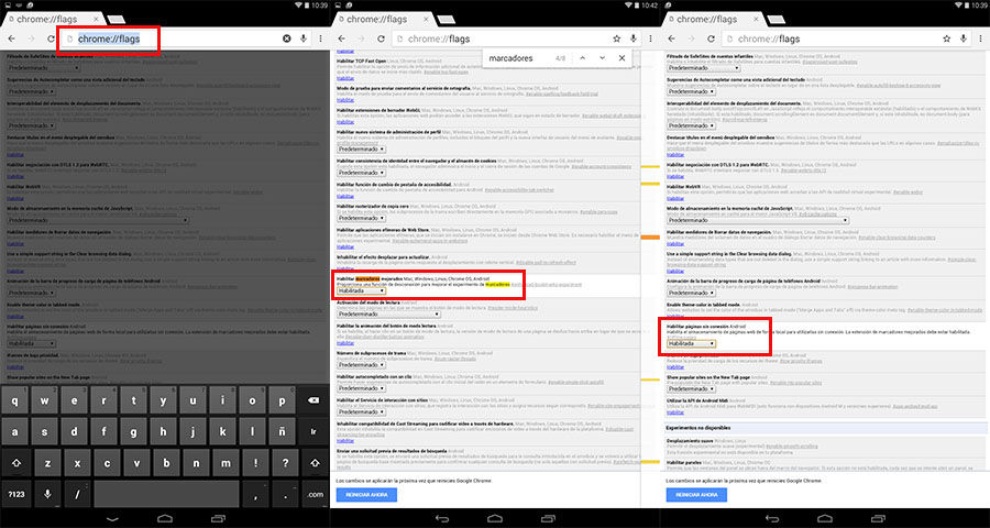 Guardar páginas web en Chrome para Android
