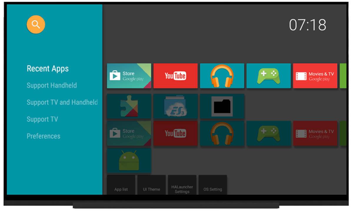 HALauncher Android TV mejor interfaz minimalista
