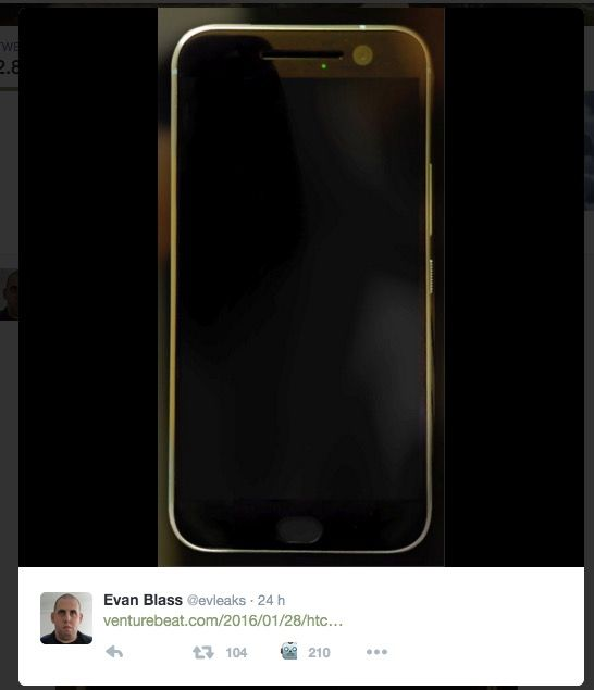 HTC One M10 imagen filtrada