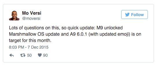 HTC One M9 y A9 actualizarán a Marshmallow este mes