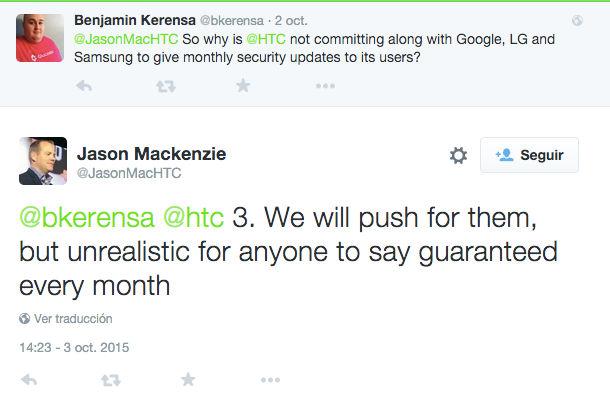 HTC USA no ve realistas las actualizaciones mensuales