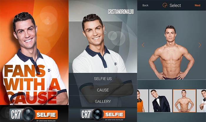 Hacer selfie con Cristiano Ronaldo