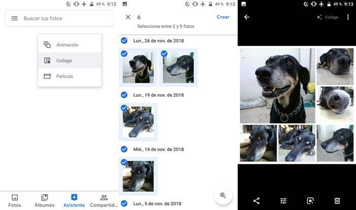 Hacer un collage en Google Fotos