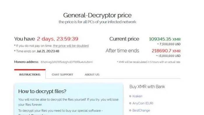 Hackers piden dinero por medio de Monero Fibertel