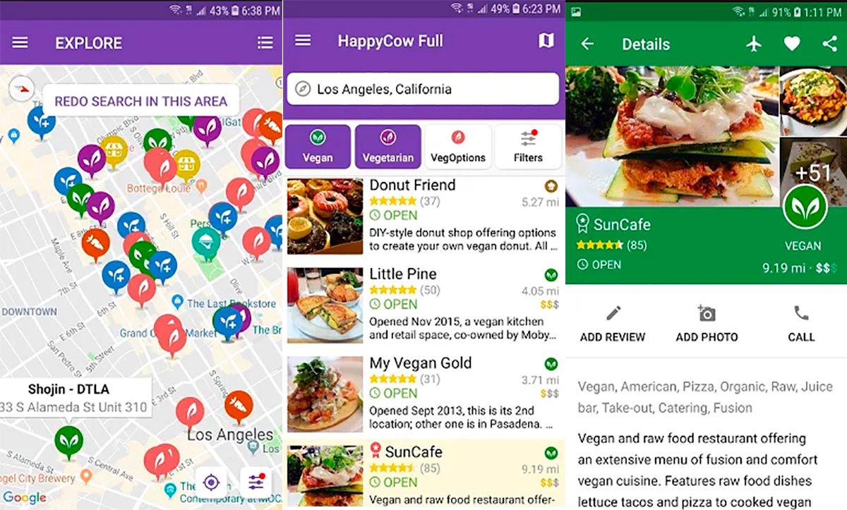 Happy Cow Find Vegan para Android