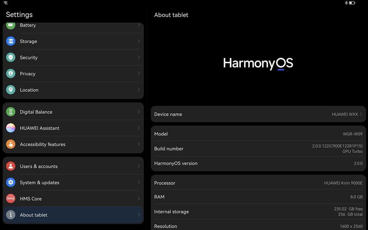 HarmonyOS MatePad Pro