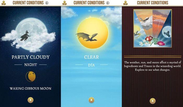 Harry Potter Wizard Unite condiciones climaticas