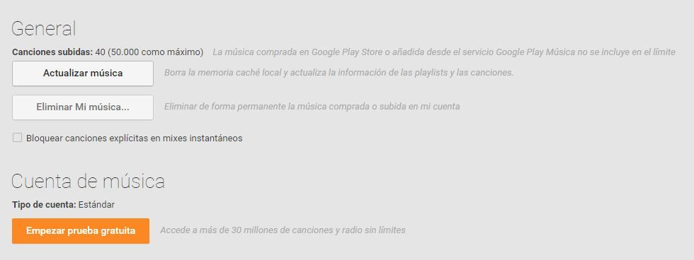 Hasta 50.000 canciones en Google Play Music