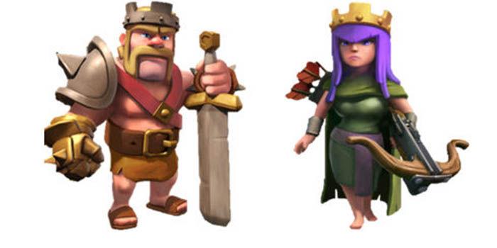 Heroes de clash of clans