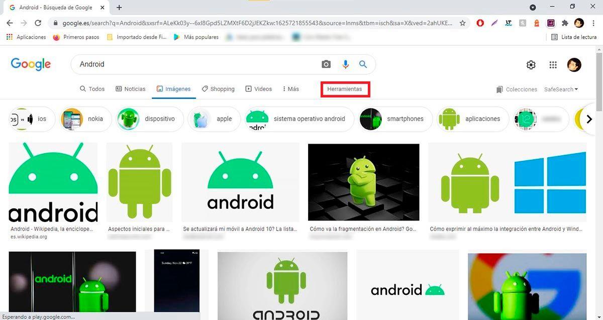 Herramientas de busqueda de imagenes Google