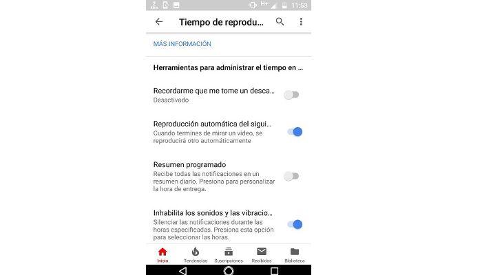 Herramientas para administrar el tiempo en YouTube