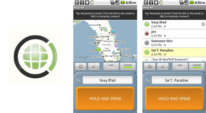 HeyTell app PTT Android
