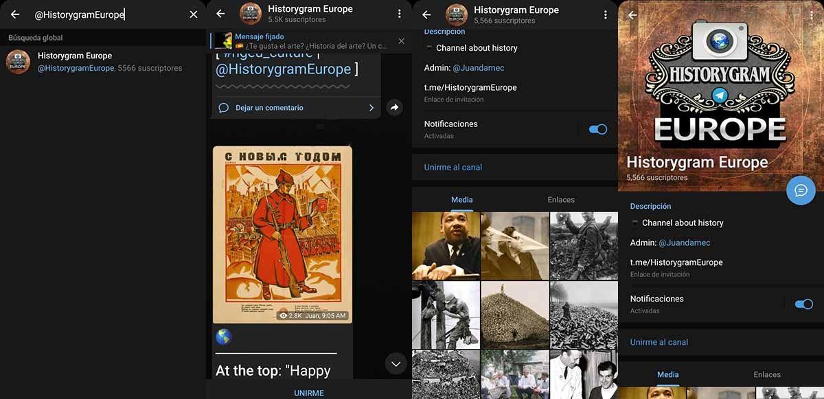 Historygram Europe conoce la historia del mundo usando tu Telegram