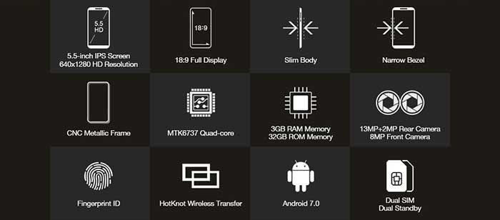 Homtom S7 especificaciones
