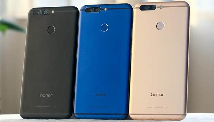 Honor 8 parte trasera colores