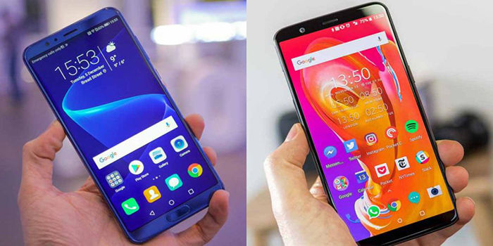 Honor V10 y OnePlus 5T