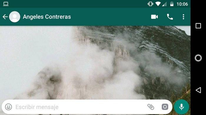 Hora de última vez en WhatsApp