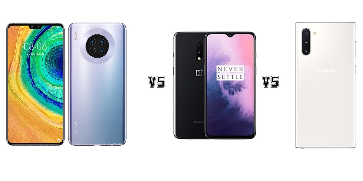 Huawei Mate 30 vs OnePlus 7 vs Galaxy Note 10, comparativa
