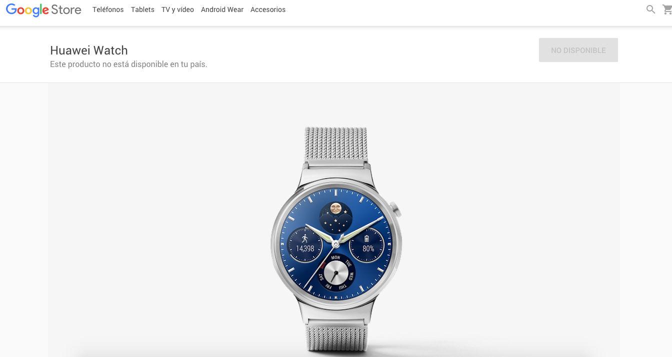 Huawei Watch en Google Store