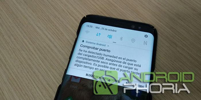 Humedad puerto Galaxy S8