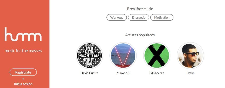 Humm, alternativa a Spotify