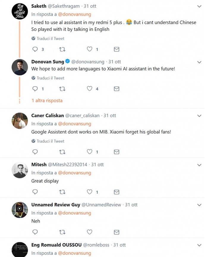 Idiomas asistente virtual de Xiaomi