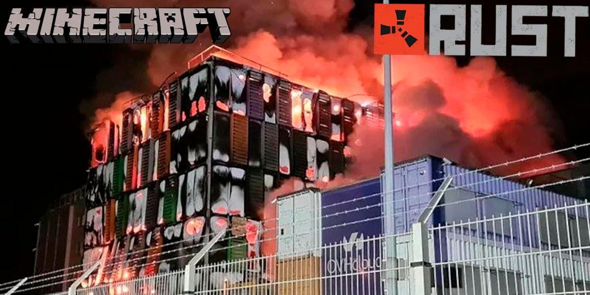 Incendio en OVH hace que no puedas jugar a Minecraft ni RUST