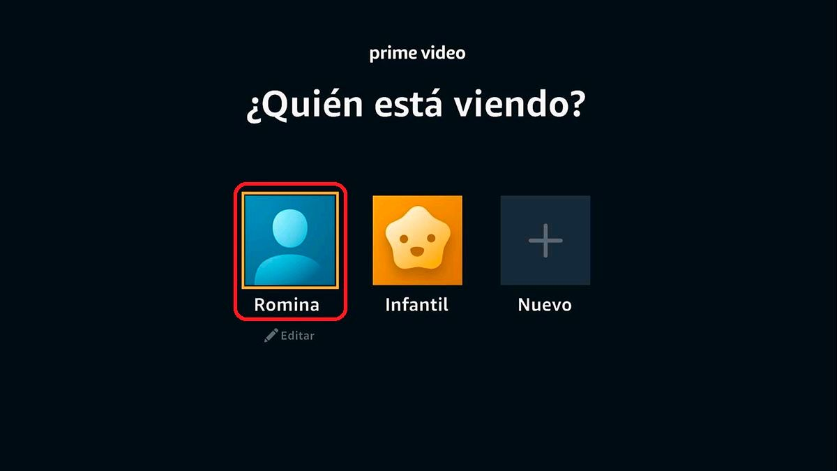 Iniciar sesion Prime Video Android TV