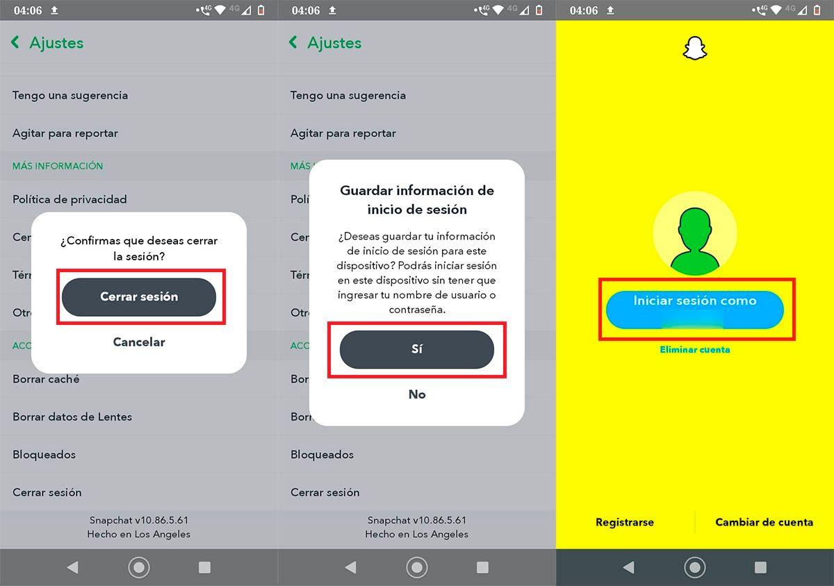 Iniciar sesion Snapchat