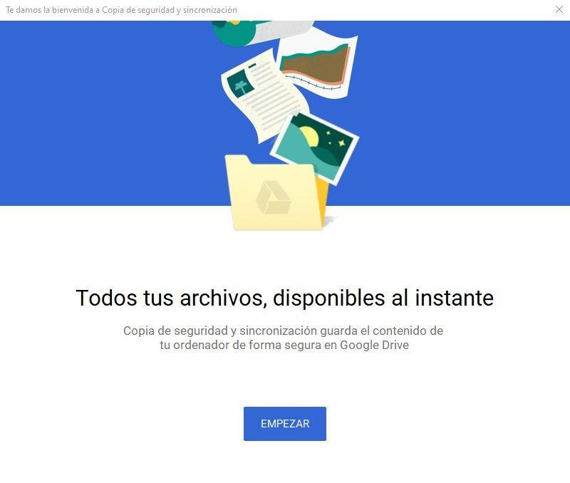 Inicio copia de seguridad Documentos de Google