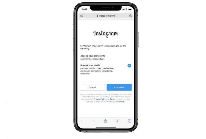 Instagram compartir datos con terceros
