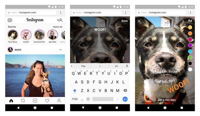 Instagram compartir historias desde la web