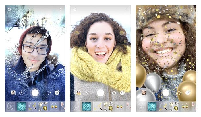 Instagram filtros faciales Navidad 2017