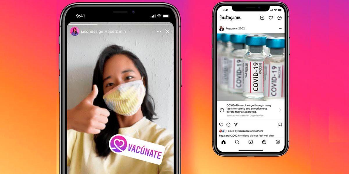 Instagram lanza sticker para apoyar la vacuna del Covid