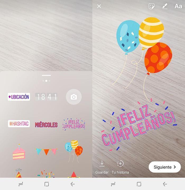 Instagram nuevos stickers aniversario
