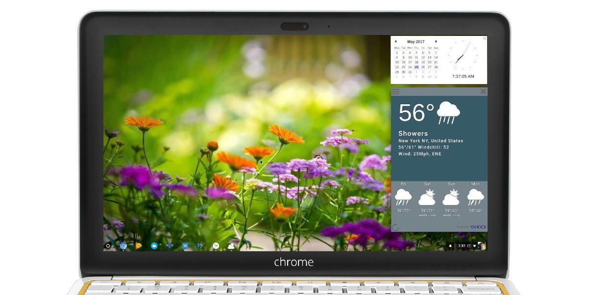Instala widgets en tu Chromebook
