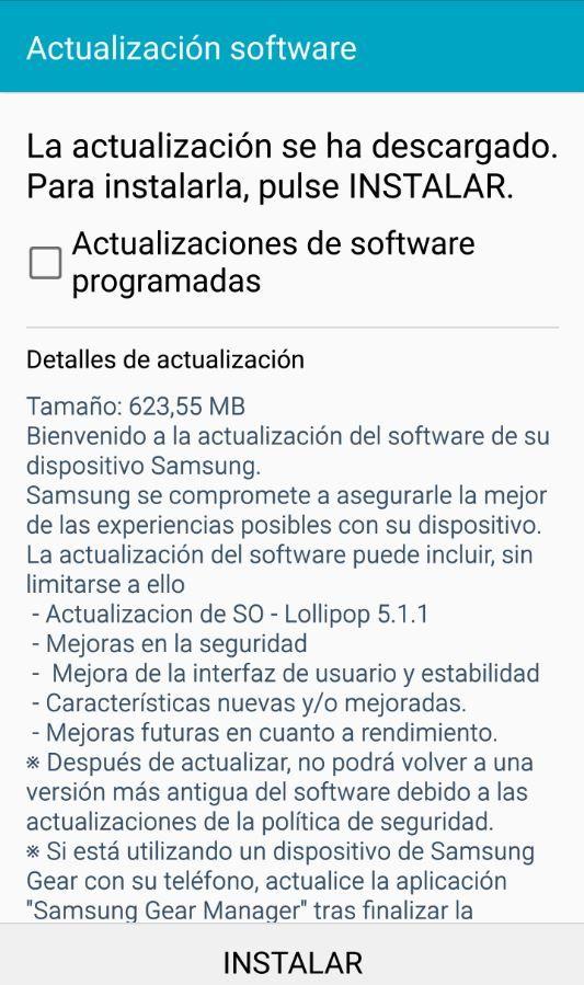 Instalar Android 5.1.1 en Galaxy S6