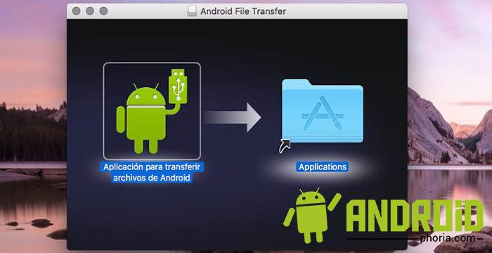 Instalar Android File Transfer en OS X