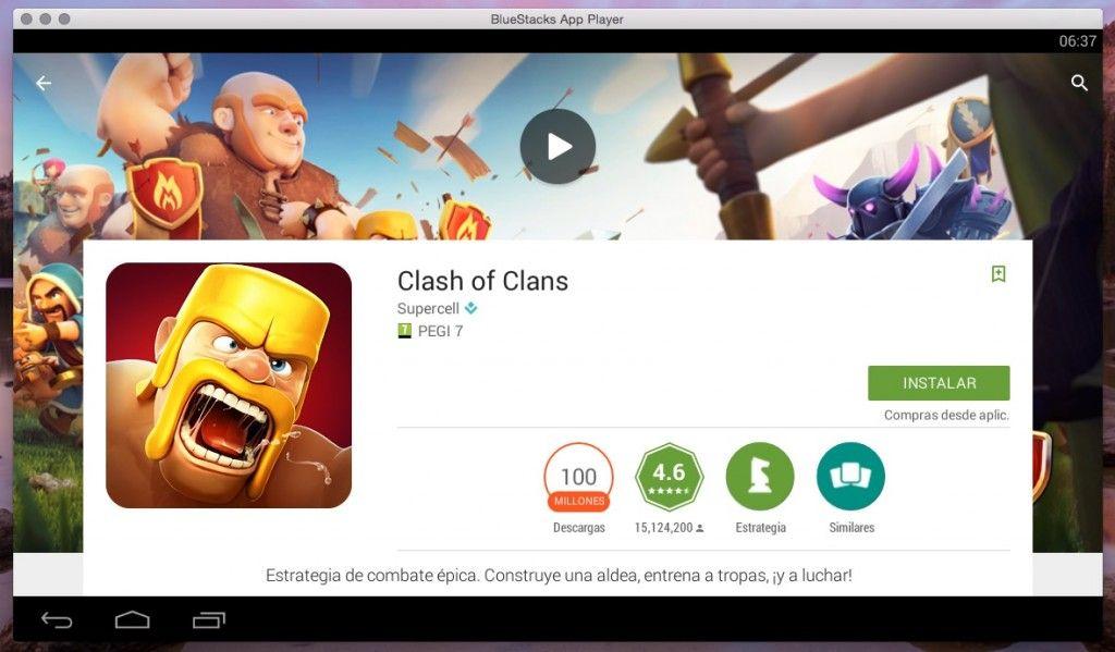 Instalar Clash of Clans en Mac