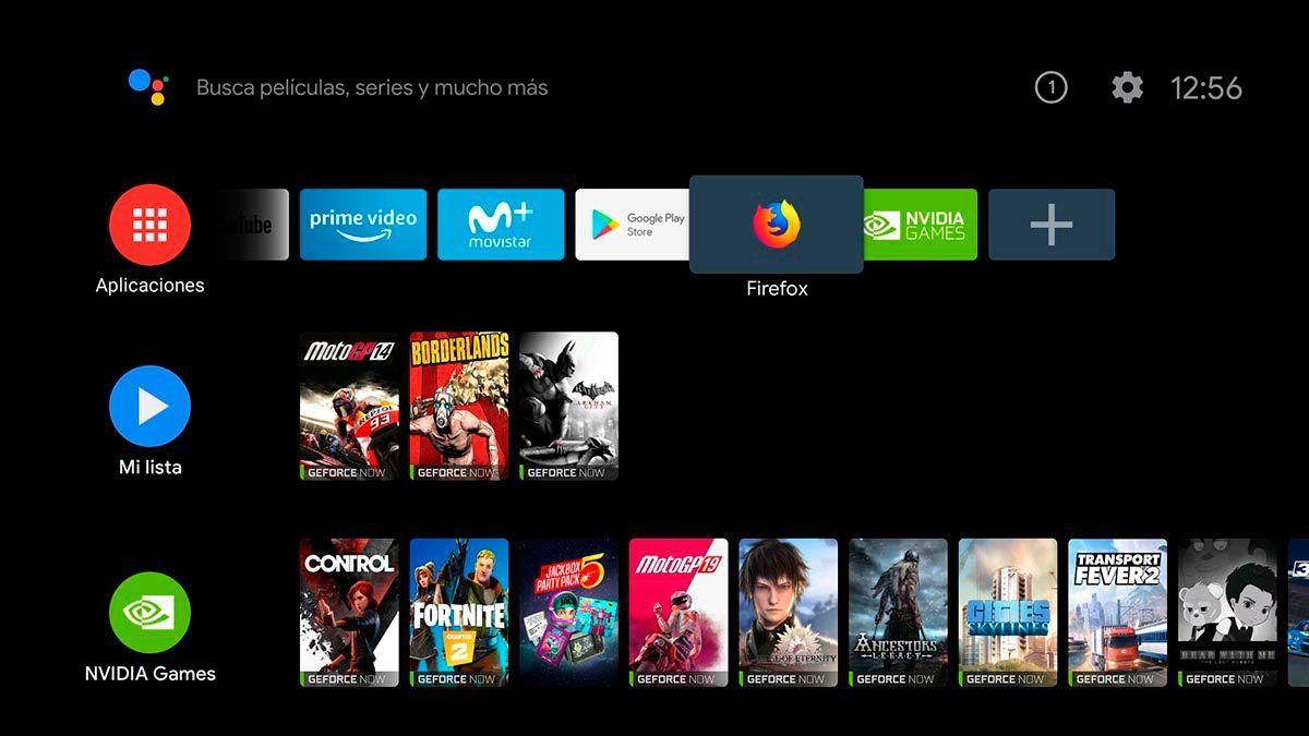 Instalar Firefox en Android TV