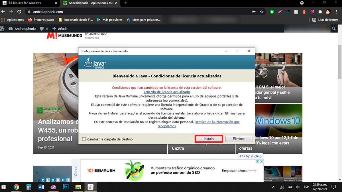 Instalar Java PC