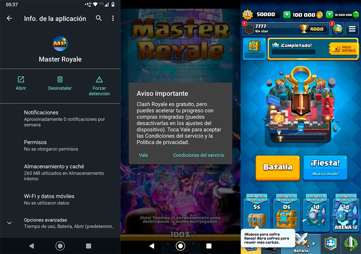 Instalar Master Royale Android APK